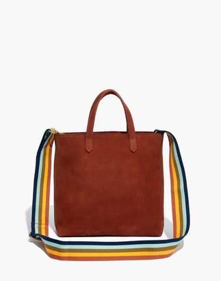 Madewell The Zip-Top Transport Crossbody in Nubuck Leather: Rainbow Strap Edition
