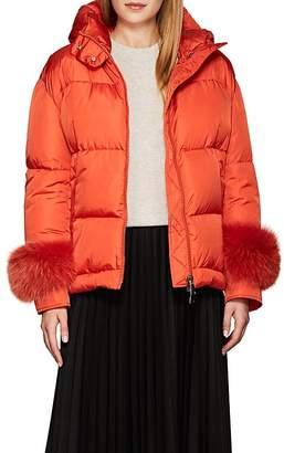 Moncler Women's Effraie Fur-Cuff Down-Quilted Puffer Jacket