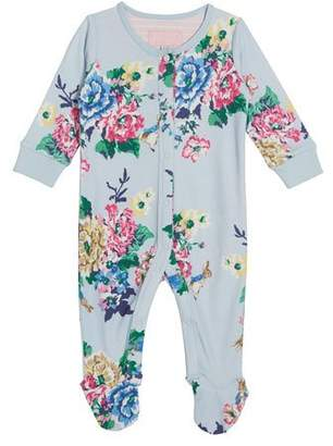 Joules Razzmatazz Floral Print Footie Pajamas, Size 0-12 Months