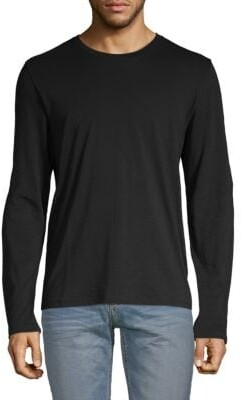 Vince Classic Long-Sleeve Cotton Tee