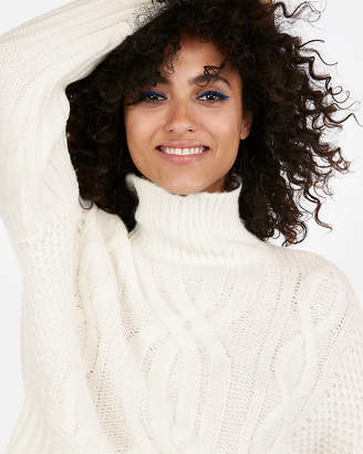 Express Petite Cable Knit Turtleneck Sweater