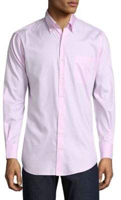 Peter Millar Gingham Cotton Button-Down Shirt