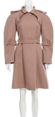 Fendi Wool Knee-Length Coat