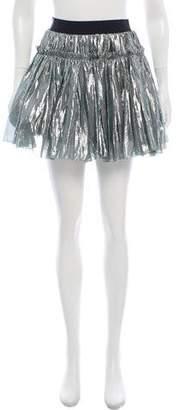Faith Connexion Metallic Mini Skirt w/ Tags