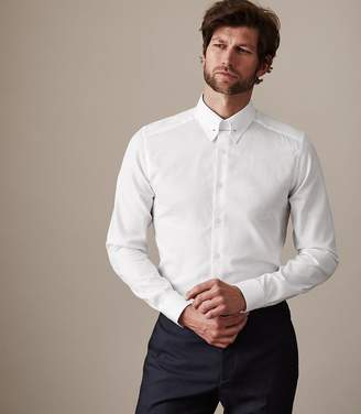 Reiss Our last order date for Christmas has now passed ANGEL COLLAR BAR SHIRT White