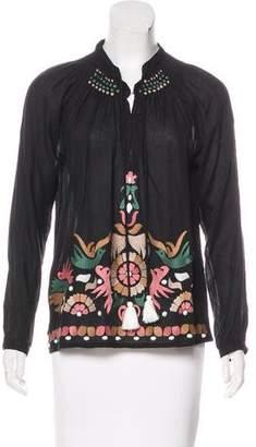 Roberta Roller Rabbit Long Sleeve Embroidered Top