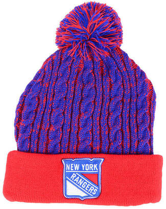 8123d1bbce36a2 ... Authentic Nhl Headwear Women New York Rangers Iconic Ace Knit Hat