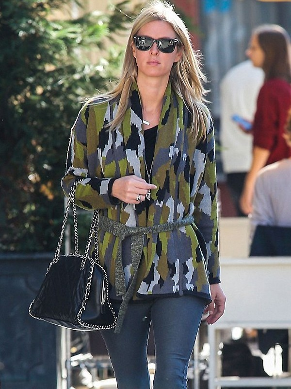 Torn By Ronny Kobo Charlotte Cardigan as seen on Nicky Hilton