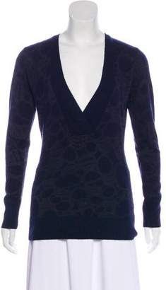 Christopher Fischer Plunge Neck Long Sleeve Sweater