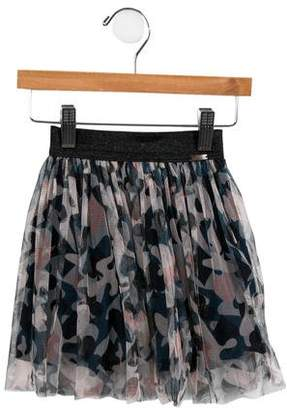 Junior Gaultier Girls' Abstract Tulle Skirt