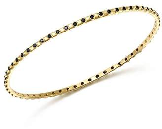 Armenta 18K Yellow Gold Sueno Black Sapphire Eternity Bangle