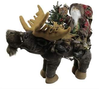 Rustic Santa & Moose Figure Christmas Decor