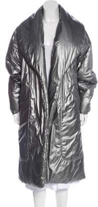 Michael Kors Long Puffer Coat Silver Long Puffer Coat