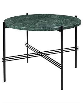 Gubi Ts Coffee Table Round 55Cm Verde Guatemala Marble (Green)