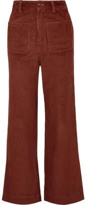 Ulla Johnson Fonda Cotton-corduroy Straight-leg Pants - Brown