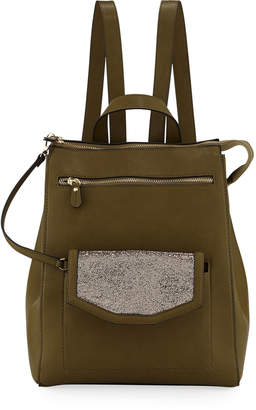 Neiman Marcus Jamiee Faux-Leather Backpack