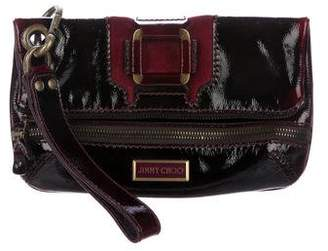 Jimmy Choo Patent Leather Fold-Over Clutch