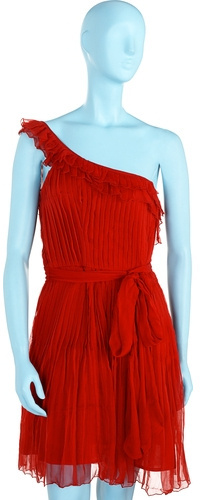 Topshop Pleats and Ruffles Dress