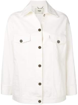 Fendi logo denim jacket