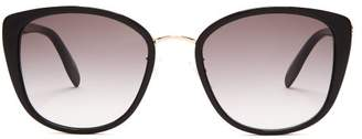Alexander McQueen Oversized Cat Eye Sunglasses - Womens - Grey