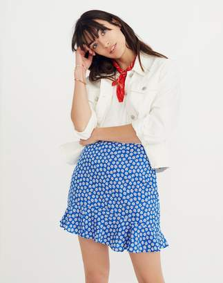 Madewell Ruffle-Edge Skirt in Mini Daisy