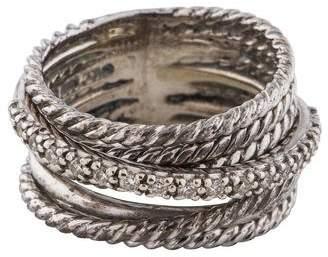 David Yurman Diamond Crossover Wide Ring