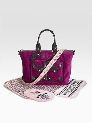 Juicy Couture Velour Baby Satchel