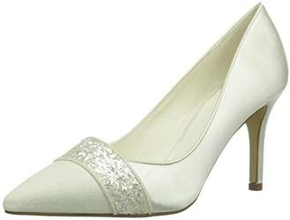 ... Menbur Wedding Womens Laura Closed pumps Ivory Elfenbein (Ivory 04)  Size  4 UK 8735d30710d4
