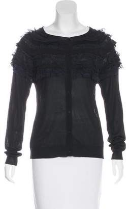 Nina Ricci Silk Knit Cardigan