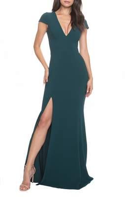 Dress the Population Karla V-Neck Trumpet Gown