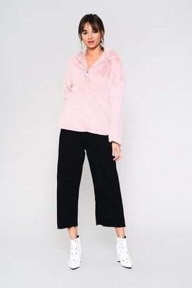 Glamorous Petites **Faux Fur Zip Through Sweatshirt by Petite
