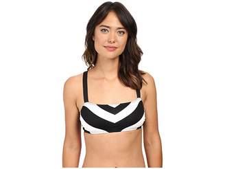 Lauren Ralph Lauren Chevron X-Back OTS Bikini Top Women's Swimwear
