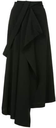 Isabel Benenato asymmetric midi skirt