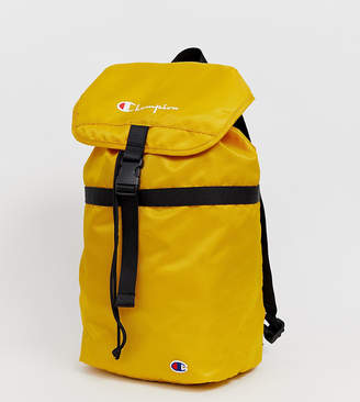 Champion fold top backpack in mustard