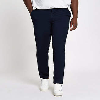 River Island Big and Tall navy chino slim fit pants