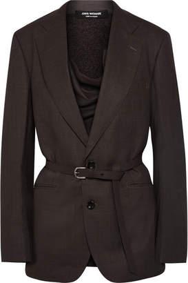 Junya Watanabe Paneled Wool Blazer - Dark gray