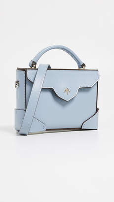 Atelier MANU Micro Bold Top Handle Bag with Leather Strap