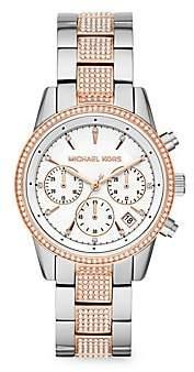 Michael Kors Women's Ritz Chronograph Two-Tone Stainless Steel Bracelet Watch