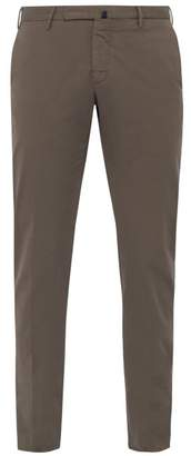 Incotex Slim Fit Cotton Blend Chino Trousers - Mens - Brown