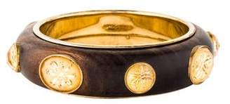 Bottega Veneta Citrine & Wood Bangle Bracelet