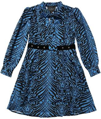John Richmond ZEBRA PRINT CREPE PARTY DRESS