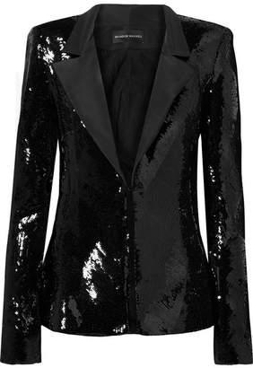Brandon Maxwell Sequined Faille Blazer - Black