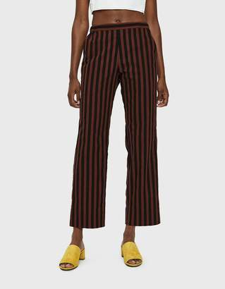 Rachel Comey Mott Pull-On Pant in Brown Stripe