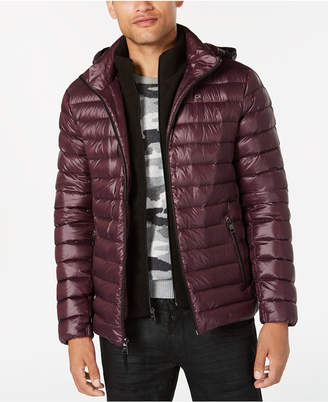 Calvin Klein Men Packable Down Hooded Puffer Jacket
