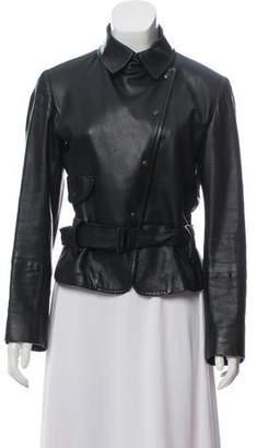 Max Mara Weekend Belted Leather Jacket