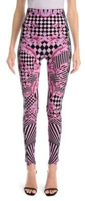 Versace Jersey Checkerboard Leggings