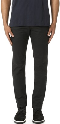 Naked & Famous Denim Slim Chino - Black Stretch Twill Pants