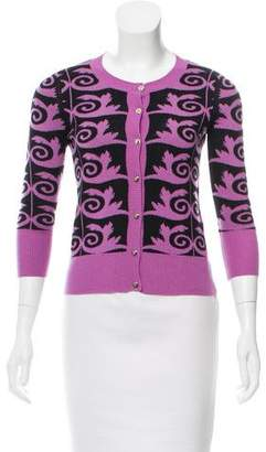 Versace Cashmere Patterned Cardigan