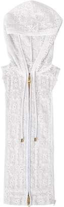 Veronica Beard Marlo Lace Hoodie Dickey White