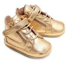 Giuseppe Zanotti Baby's Metallic Leather Sneakers